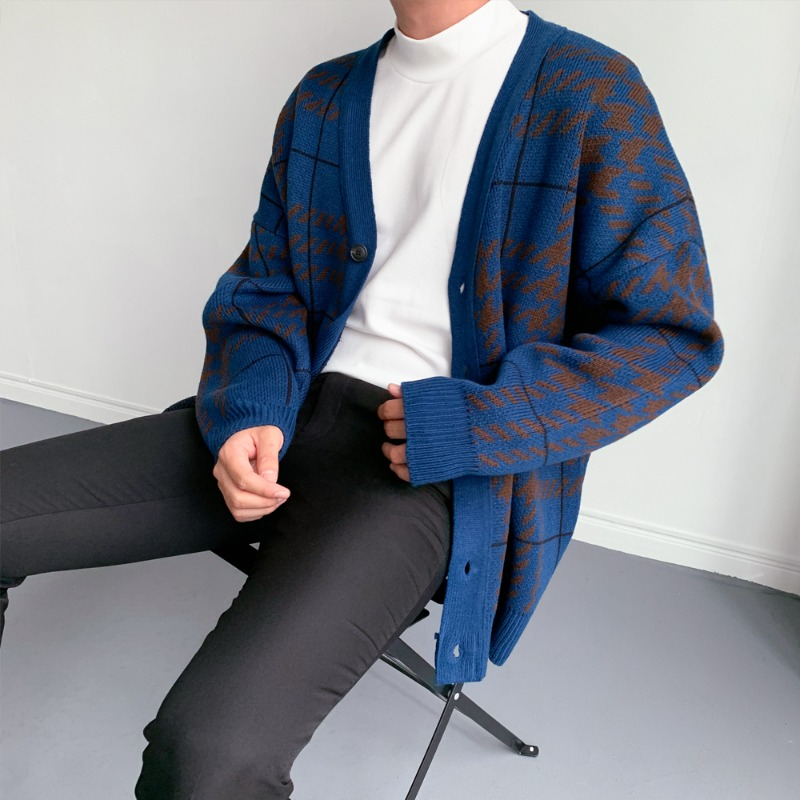 BLBK 3degree check Cardigan (3color)