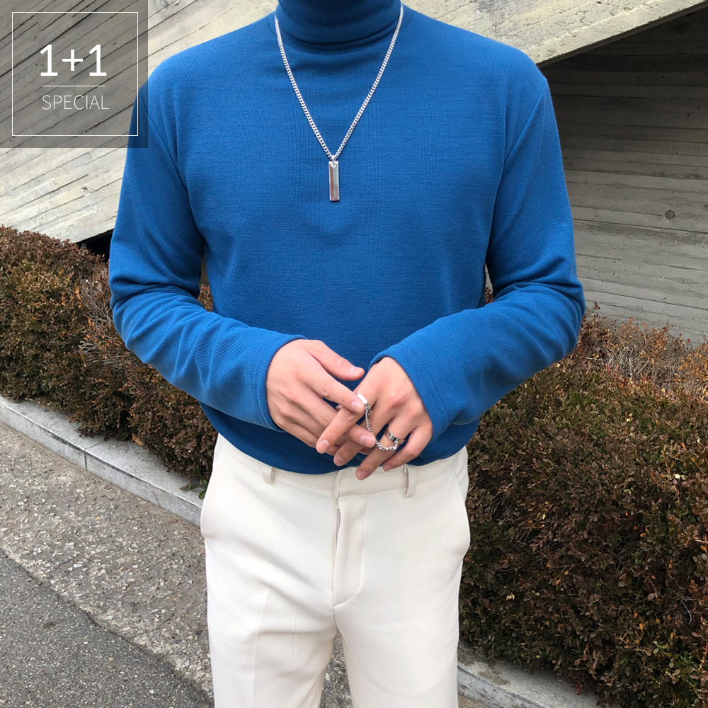 LOOKPINE 1 + 1 basic Neck knit (8color)