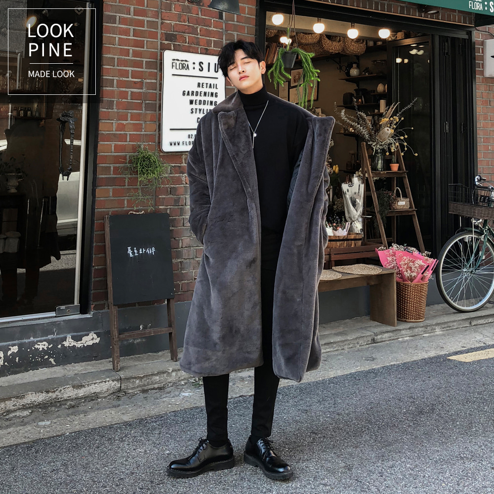 LOOKPINE 設計/ Persian mink fur coat (charcoal)