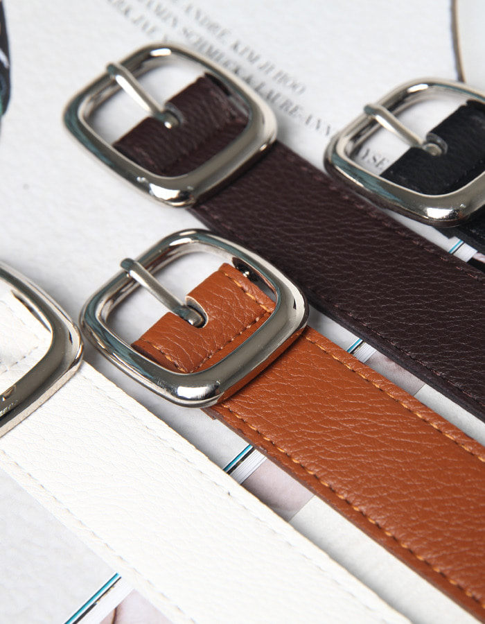 JP leather circle berry belt (4color)
