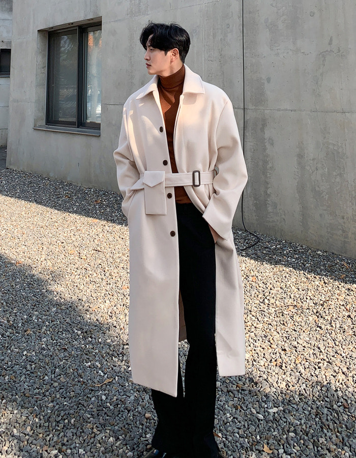 MN Chercy Pocket Belt Coat (4color)