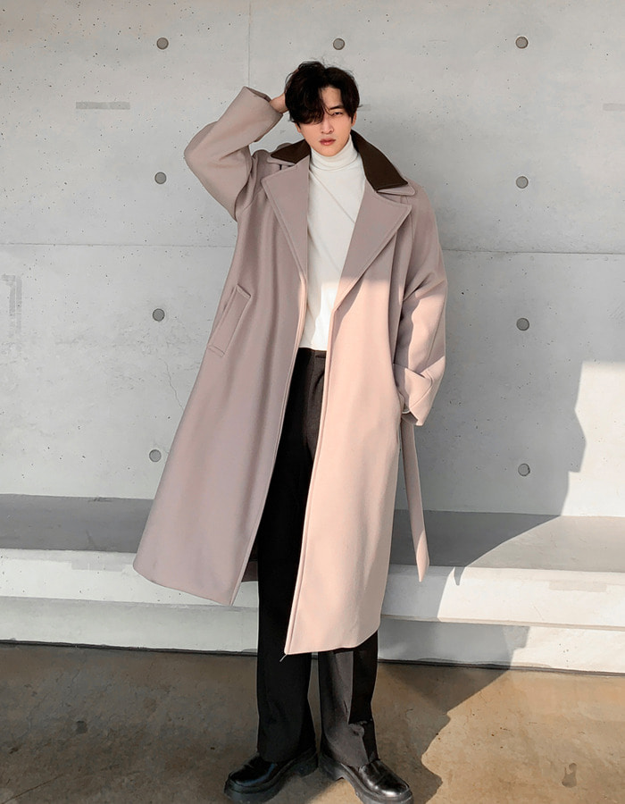 MS double collar coat (2color)