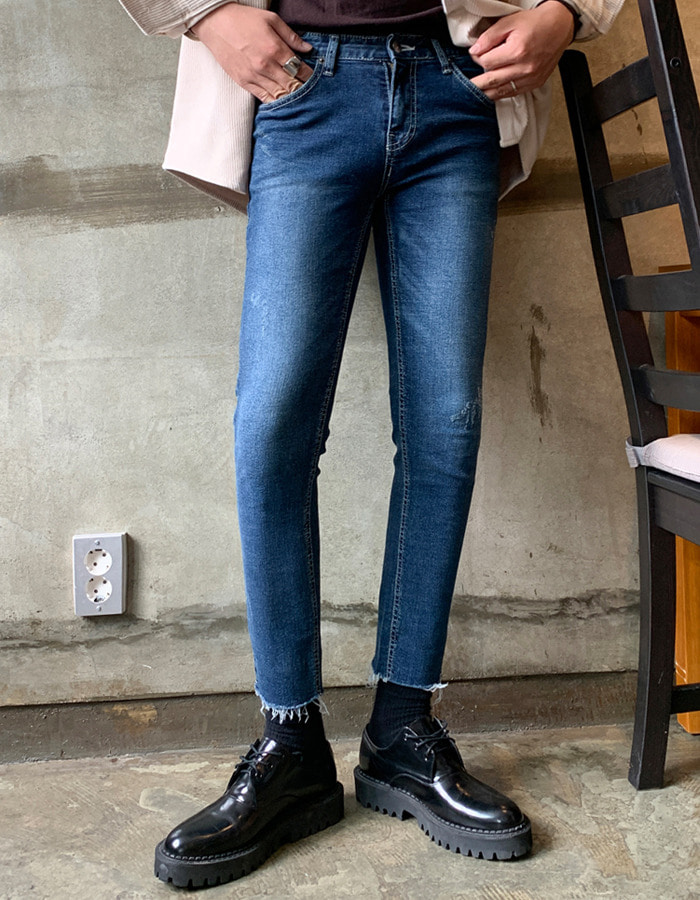 YB 5787 slip cropped jeans