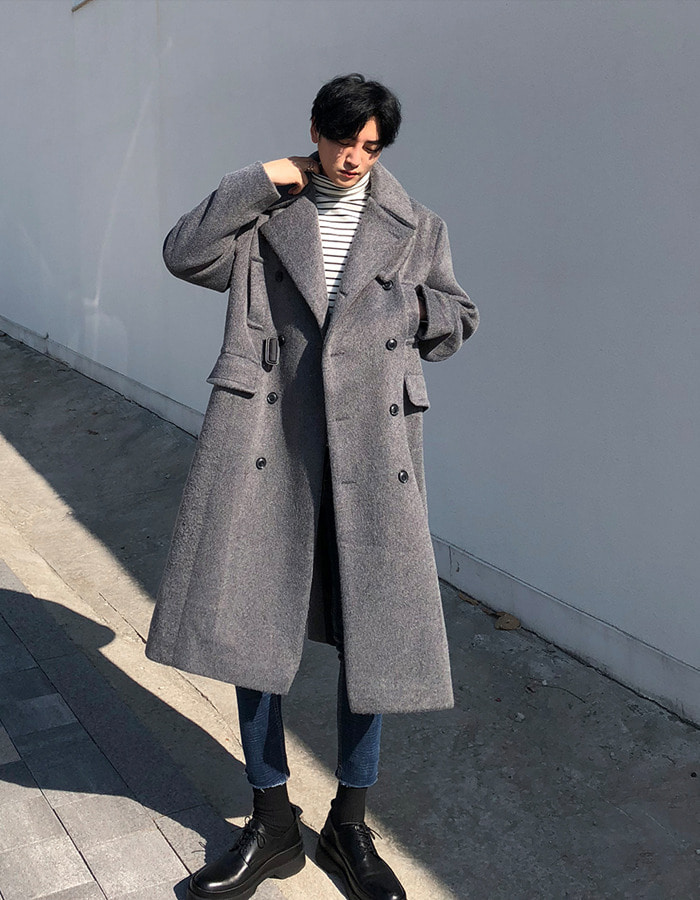 GAR H. double belt coat (3color)