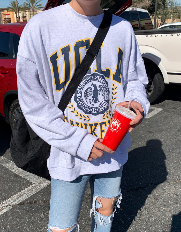 MOOD UCLA Person sweatshirts (3color)