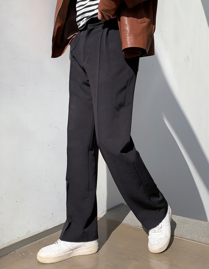 RV Pintuck Wide Slacks (2color)