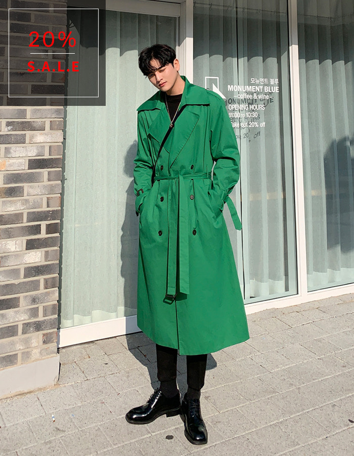 #madelookpine / deral trench coat (green)