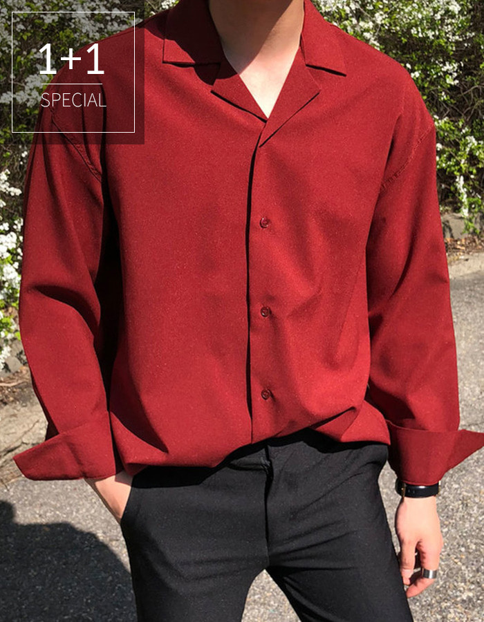 1 + 1 Open collar shirt PH