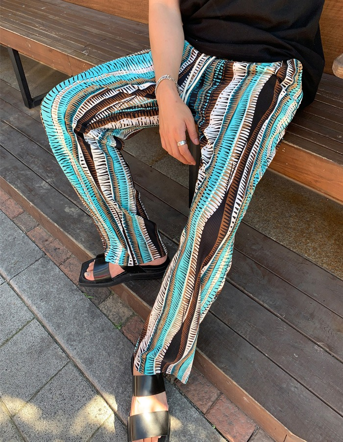 DBY ethnic pleated pants (2color)