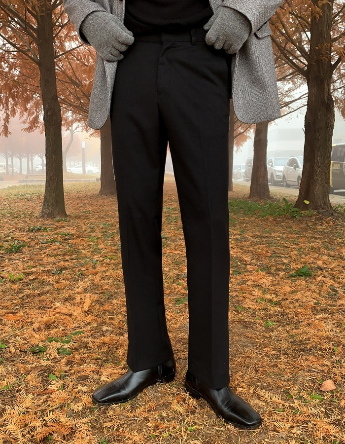 EVR wool wide slacks